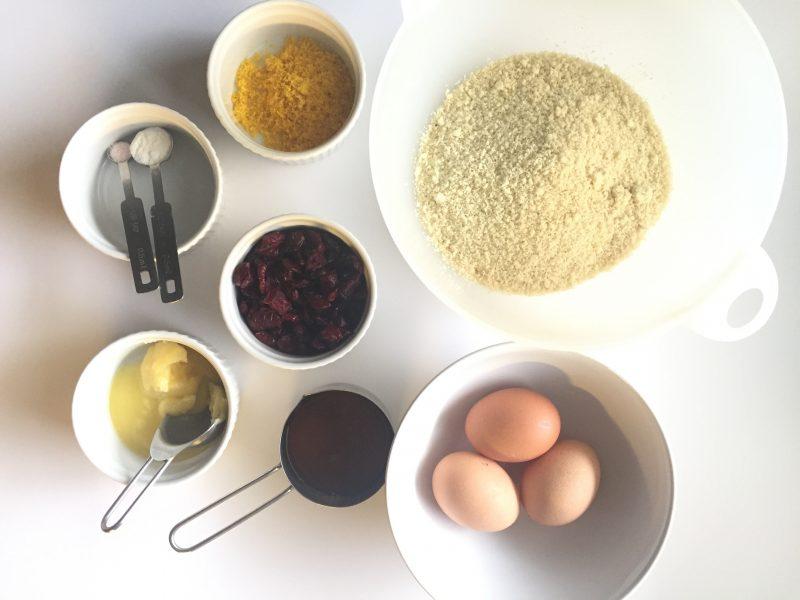 gluten-free orange cranberry muffins ingredients