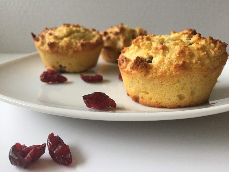 gluten-free orange cranberry muffins